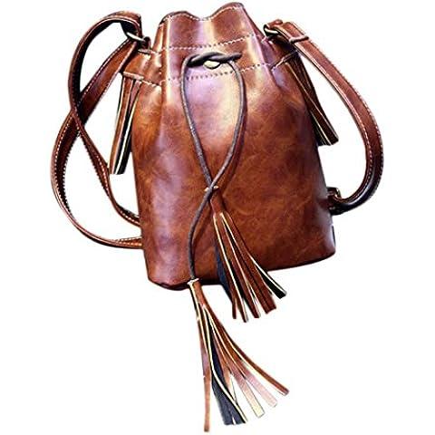 bolsos de las mujeres, FEITONG Nuevo bolso de la mujer Bolsa de hombro del mensajero de la borla Hobo del monedero del bolso de la