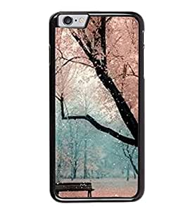 Fuson Premium 2D Back Case Cover Amazing Scenery With Purple Background Degined For Apple iPhone 6 Plus