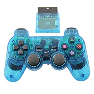 PS2 Dual Vibration Controller für Sony Playstation 2 (kabellos) rot