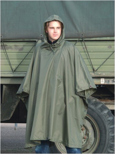 ARMY RIP STOP RAIN PONCHO 4 COLOURS - Olive