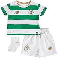 Celtic FC 17/18 Home Infant Football Kit - White/Green