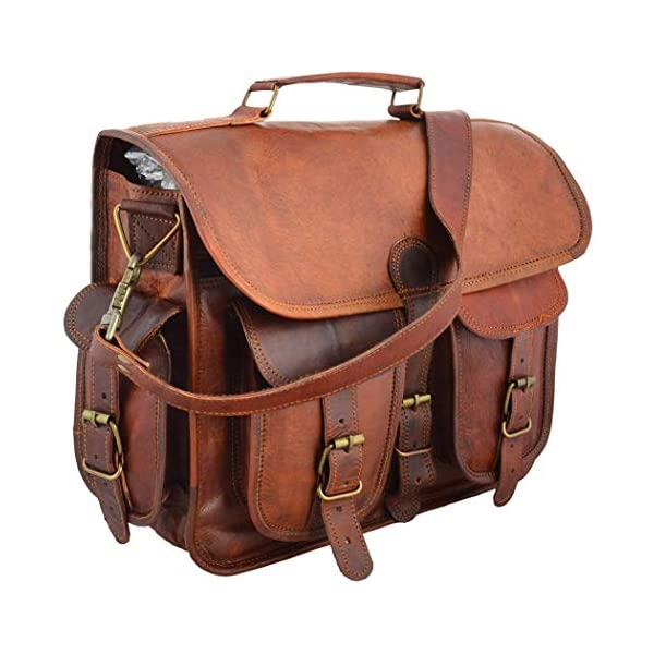 15 Inch / 38 cm Rustic Vintage Leather Messenger Bag Laptop Bag Briefcase Satchel Bag Handmade Laptop Bag 51UkAN 2BeT8L