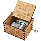 SNOWIE SOFT®Wooden Hand Crank Music Box Antique Carved Decorative Box Gift for Kids Friends Family Musical Toy Home Decoration (Twinkle Twinkle Little Star)