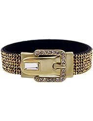 &ZHOU pulseras,incrustaciones de pulsera con diamantes de imitación, hebilla de la aleación magnética, pulsera, joyas, pulsera creativa, regalo creativo , gold