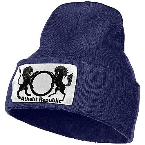 Quintion Robeson Atheist Republic Männer Frauen Warm Knit Plain Beanie Hut Schädelkappe Acryl Strick Manschette Hut