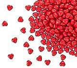 100 matt rote Acryl Herzen mit 12 mm Durchmesser - Dekosteine Tischdekoration für Hochzeit und Verlobung - Ideale Streudeko - Kleenes Traumhandel®