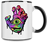 Kitchen & Housewares : All Seeing Hand Premium Full Color Changing Mug| 11Oz|Drink W/ Style In Our Unique Color Changing Mug| High Quality Ceramic W/ Glossy Finish