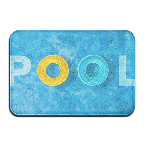 dfegyfr Pool-Thema Anti-Rutsch-Fußmatte Home Decor Indoor Outdoor Eingang Fußmatte Gummiunterlage 23,6 X 15,7 Zoll -
