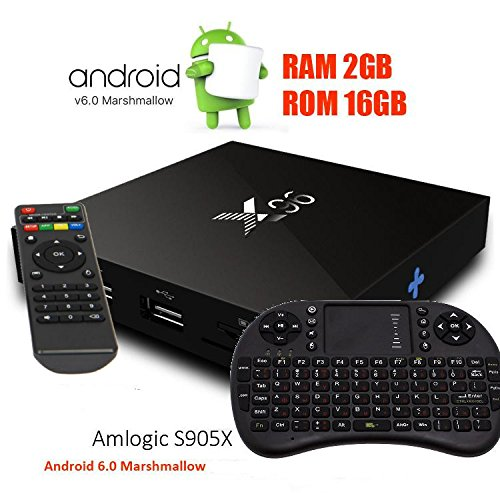 X96 Amlogic S905X 2GB/16GB TV Box 64bit 4K2K Dolby Android 6 +Tastatur
