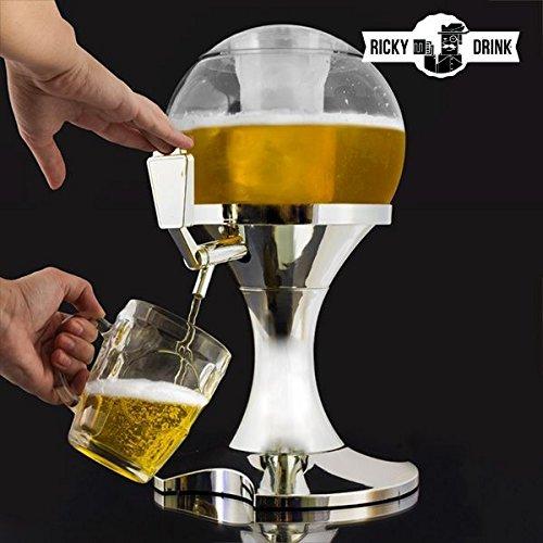 Appetitissime Chill Beer Ball Dispensador de Cerveza, Plástico, Plateado, 24x26x29 cm, 2 Unidades