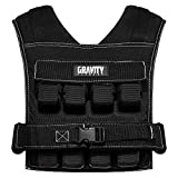 GRAVITY FITNESS Weighted Vest - 15kg - 20kg - Fully Adjustable. Calisthenics, Crossfit, Strength...