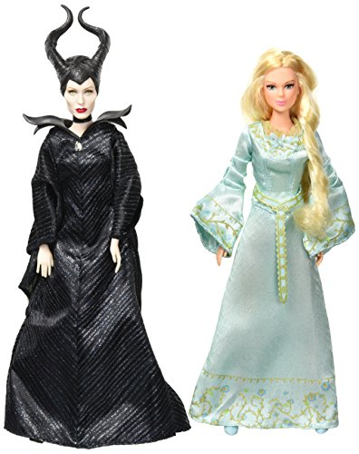 Paket von zwei: Disney 's Maleficient Die dunkle Fee Royal Krönung Dark Beauty & Beloved Aurora Royal Krönung Sammler - Disney Sammler-puppen