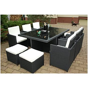 outsunny polyrattan gartenm bel 21 tlg rattan essgruppe gartenset lounge sitzgruppe. Black Bedroom Furniture Sets. Home Design Ideas