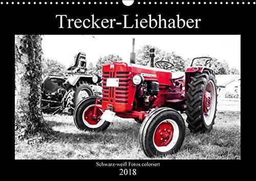 Trecker-Liebhaber (Wandkalender 2018 DIN A3 quer): Liebevoll gepflegte Oldtimer-Traktoren schwarz-weiß coloriert (Monatskalender, 14 Seiten ) ... [Kalender] [Apr 11, 2017] Dreegmeyer, Andrea