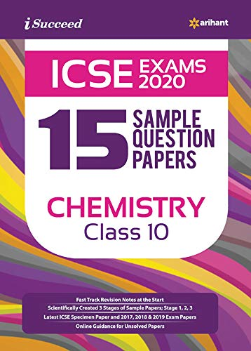15 Sample Question Papers ICSE Chemistry class 10 2019-2020