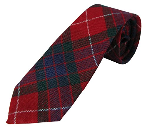 """A 100% Wool Childs Neck Tie in Fraser Dress Tartan. Woven and Manufactured Scotland by Ingles Buchan. Measures 6cm by 91cm (2.5"""" by 36"""") has a Black Satin Lining."""