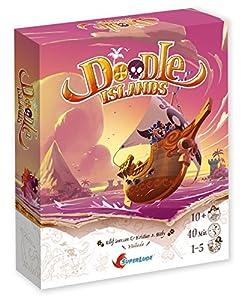 Superlude-Doodle Islands Juego de Tablero, sl7111, 0