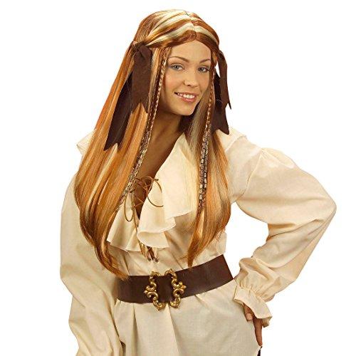 NET TOYS Elegante Piratin Perücke Esmeralda Piratinperücke Seeräuberin als Kostüm Zubehör Faschingsperücke Karneval (Esmeralda Kostüm Zubehör)