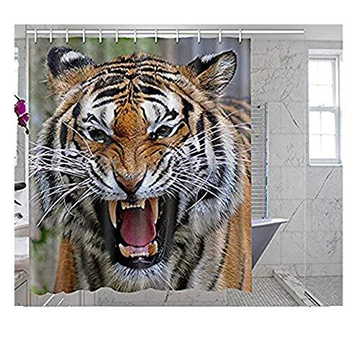 somersetoo Custom Wildlife Tiger Art Print Muster Duschvorhang Badezimmer Dekoration 167,6x 182,9cm Zoll