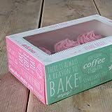 FunCakes Cupcake Box - quadratische Cupcaketransportschachtel 24x16cm, 3 Stück inklusiv 3 Einlagen