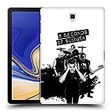 Head Case Designs Offizielle 5 Seconds of Summer Laut Weiss Gruppenbild Montage Ruckseite Hülle für Samsung Galaxy Tab S4 10.5 (2018)