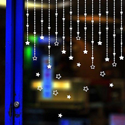 Preisvergleich Produktbild HCFKJ 2017 Mode Weihnachten Abnehmbare Frohe Weihnachten Stern Wandaufkleber Abziehbild Wandgemälde Haus Fenster Weihnachten Dekor