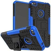 """OFU®Para Huawei P8 Lite (2017) 5.2"""" Smartphone, Híbrido caja de la armadura para el teléfono Huawei P8 Lite (2017) 5.2"""" resistente a prueba de golpes contra la lucha de viaje accesorios esenciales del teléfono-azul"""