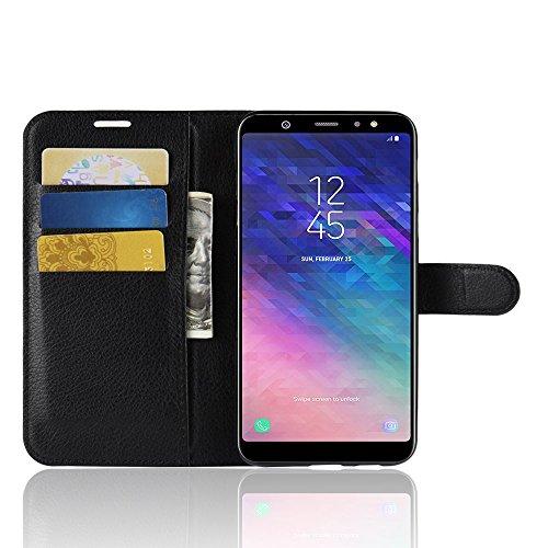 Funda   Capirotazo Billetera Samsung Galaxy A6 Plus 2018  Negro