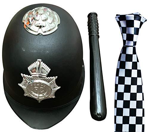 Labreeze Bobby Polizeihelm, Schlüsselloch, kariert, Krawatte, 3 -