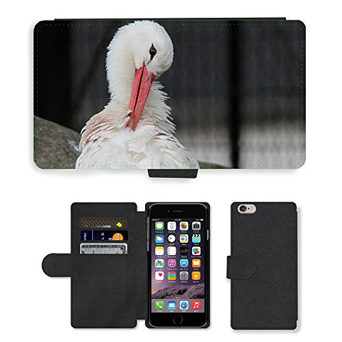 Just Mobile pour Hot Style Téléphone portable étui portefeuille en cuir PU avec fente pour carte//m00138144Cigogne Blanc Cigogne Cigognes Blanc Cigognes//Apple iPhone 6Plus 14cm