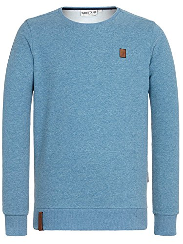 Naketano Male Hoody Perverser light blue melange