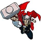 Parches - Marvel Avengers Thor cómico niños - colorido - 9,2x7,1cm - termoadhesivos bordados aplique para ropa
