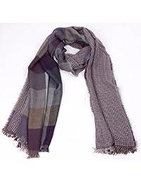 Yao Tela escocesa tejida bufanda de la bufanda de los hombres de la mujer bufanda de
