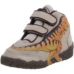 Dinosoles 3D X10 Shoes T Rex Hi Top - Tan - UK 12 (Jnr)
