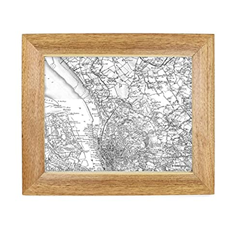 Personalised Postcode Map 10x8 Wooden Framed Old Series 1805 1874 Scale 1 50,000 Personalised