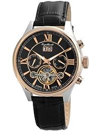 Engelhardt Herren-Armbanduhr XL Analog Automatik Leder 388931029005