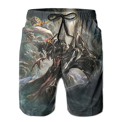 HYUKS Grim Knight Design Men Beach Shorts Pants Indoor Swim Trunks