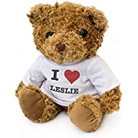NUEVO - I LOVE LESLIE - Osito De Peluche - Adorable Lindo - Regalo Obsequio Cumpleaños Valentine