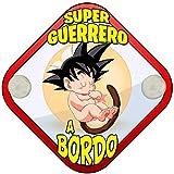 Placa bebé a bordo Dragon Ball Goku peque Super Guerrero a bordo