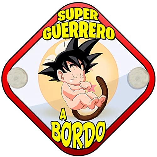 Placa bebé bordo Dragon Ball Goku peque Super Guerrero