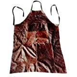 Full Length Extra Large Upholsterers Apron in Dark Brown Leather 104cm x 78cm