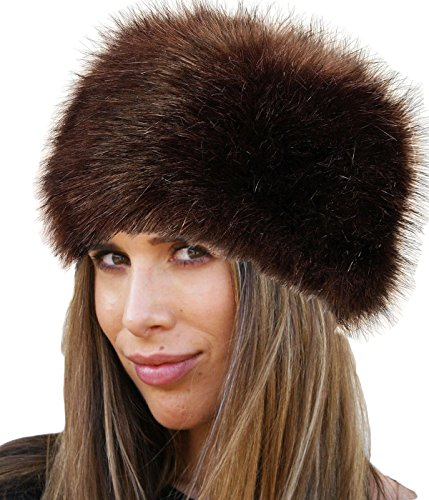 LADIES WOMENS GLAMOROUS FAUX FUR RUSSIAN COSSACK HAT