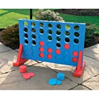 New Giant 4 In A Row Play Set Family Kids Play Set Indoor Outdoor Fun Garden Home Blue And Red