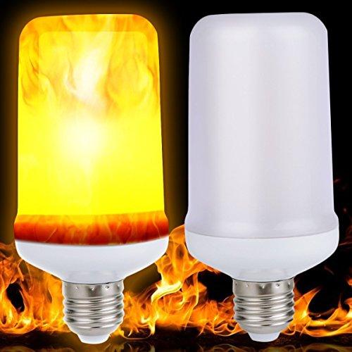 Offene Flamme Gas-licht (LED Feuer Flamme Licht, Minkoll Effekt simuliert Natur Mais Zwiebeln E27 9W Dekor Lampe (B))