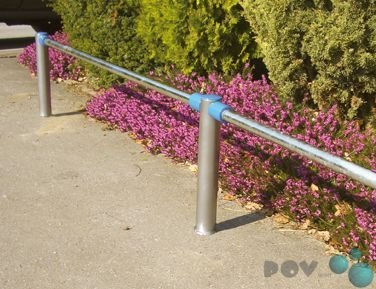 Preisvergleich Produktbild POV® Edelstahlgeländer, 500 mm Überflur Endpfosten für Oberholm