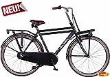 Altec Dutch Herren Hollandrad Schwarz 3 Gang 58 cm mit Frontträger