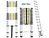 Plantex Ultra Grade Telescoping Aluminium Ladder/Folding Ladders for Home and Outdoor use