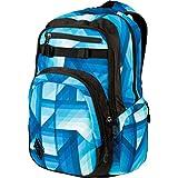 Nitro Chase Rucksack, Schulrucksack mit Organizer, Schoolbag, Daypack mit 17 Zoll Laptopfach, Geo Ocean