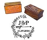 Personalisierte Holz montiert Stempel Kundenspezifische Monogramm-Stempel-Verpflichtungs-Geschenk