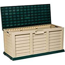 Catral 63010031 - Baúl con asiento grande, 141 x 61 x 71.5 cm, color verde y beige